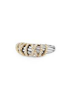 David Yurman Ring with Diamond and 18K Gold, 8mm