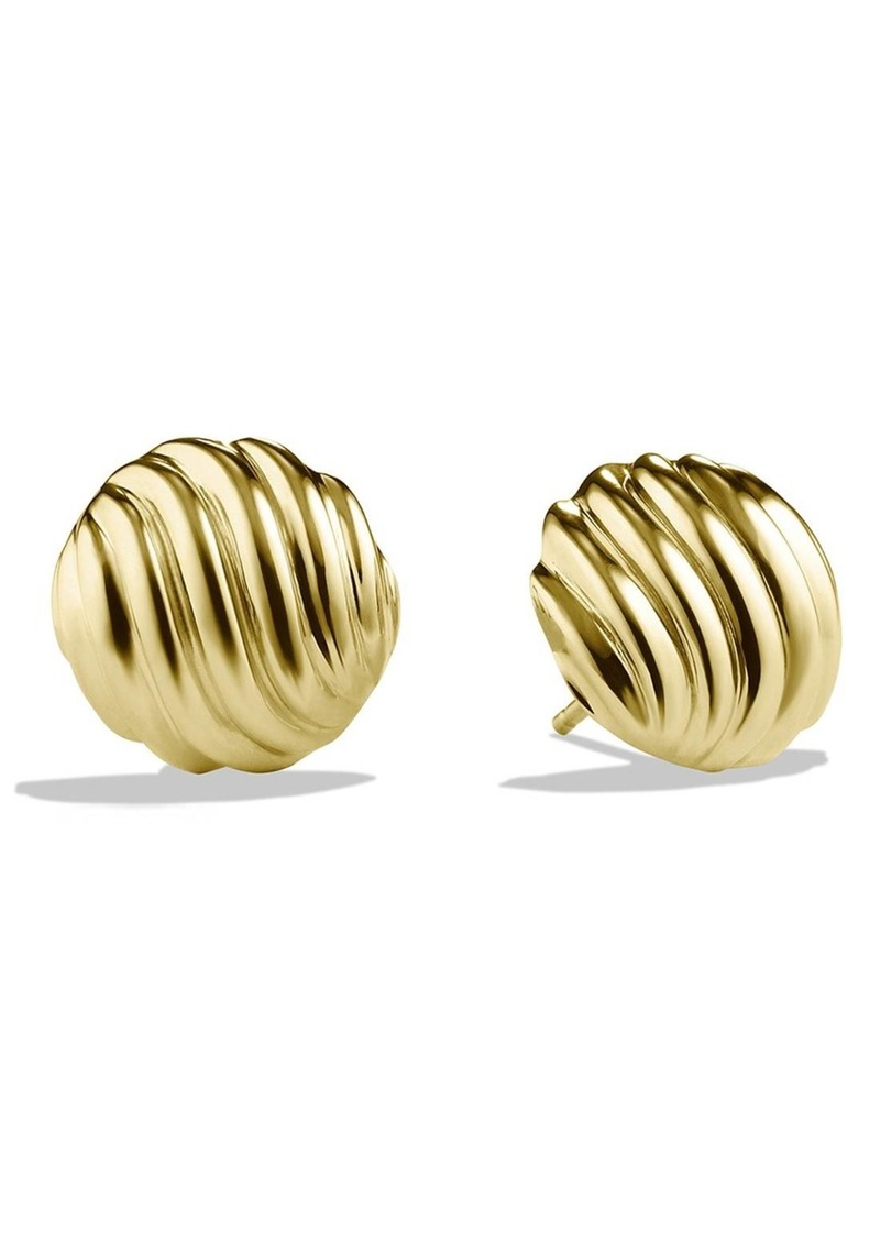 David Yurman Sculpted Cable Earrings in Gold