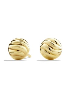 David Yurman 'Sculpted Cable' Stud Earring in Gold