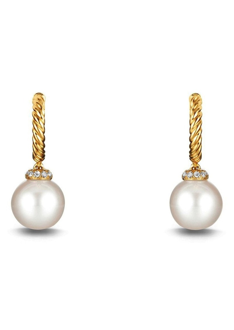 b675bb6a8c1f3 'Solari' Hoop Earring with Diamonds and Pearls in 18K Gold