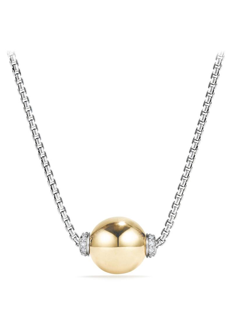David Yurman Solari Pendant Necklace with Diamonds in Silver/Gold/Diamond at Nordstrom