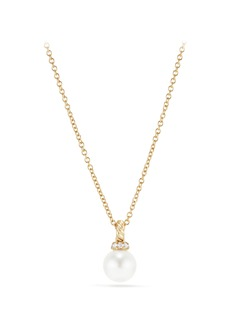 David Yurman Solari Pendant Necklace with Pearl & Diamonds in 18K Gold