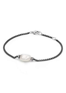 David Yurman Solari Station Bracelet with Diamonds and Pearl