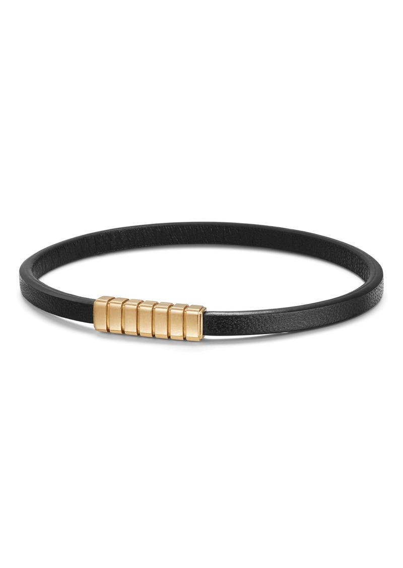 David Yurman Southwest Narrow Leather Bracelet with 18K Gold