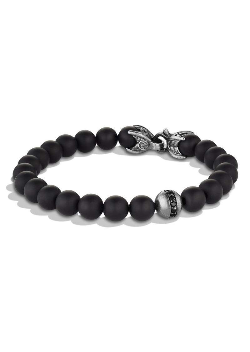 David Yurman 'Spiritual Beads' Bracelet with Black Onyx and Black Diamonds