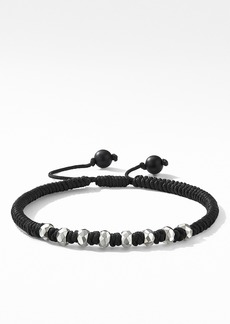 David Yurman Spiritual Beads Fortune Woven Bracelet with Black Onyx in Sterling Silver