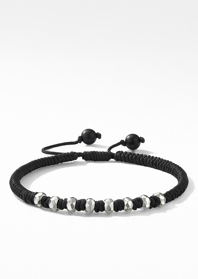 David Yurman Spiritual Beads Fortune Woven Bracelet with Black Onyx in Sterling Silver
