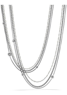 David Yurman 'Starburst' Chain Necklace with Pearls