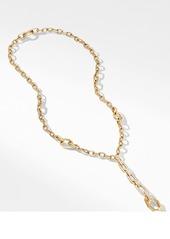 David Yurman Stax Chain Link 18K Gold Y-Necklace with Diamonds