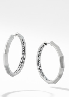 David Yurman Stax Faceted Hoop Earrings