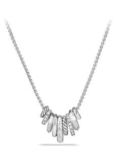 David yurman david yurman initial charm necklace with diamonds in david yurman stax small pendant necklace with diamonds aloadofball Choice Image