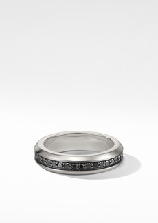 David Yurman Streamline® Band Ring with Black Diamonds