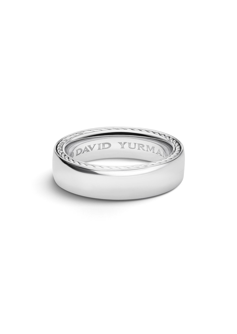 David Yurman Streamline(R) Platinum Band Ring