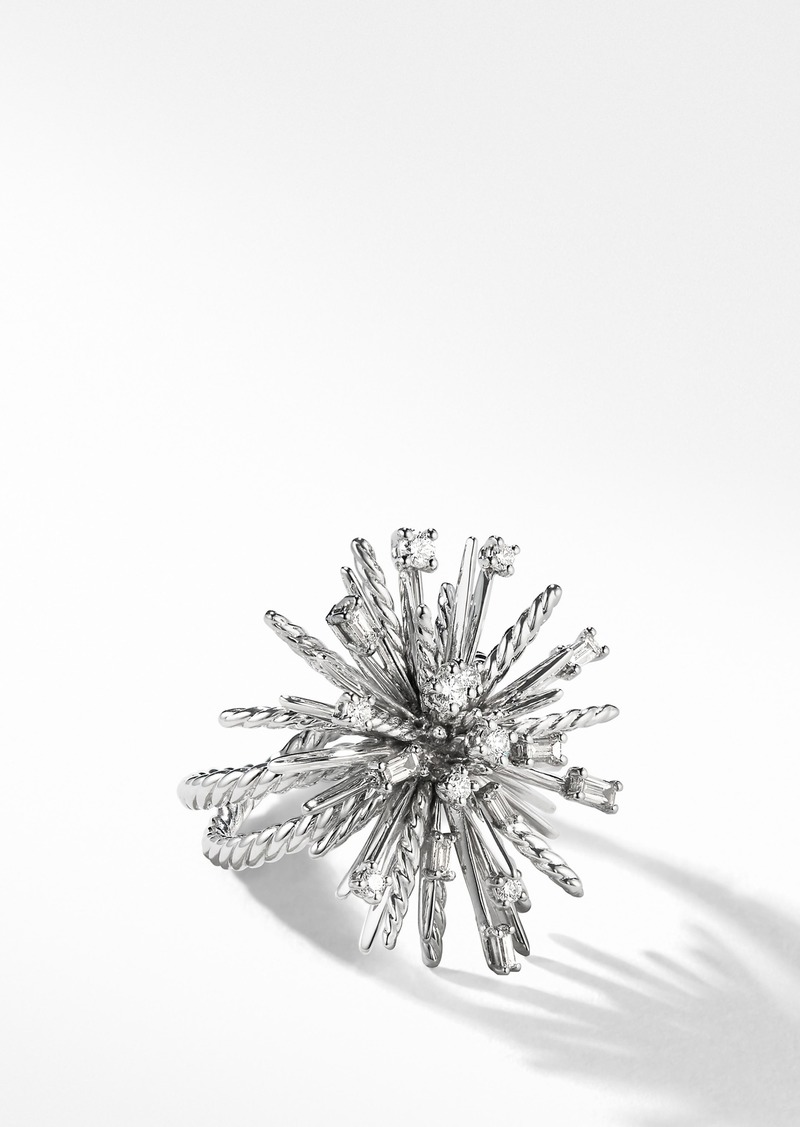 David Yurman Supernova Ring with Diamonds and 18K White Gold