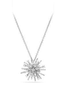 David Yurman Supernova Small Pendant Necklace with Diamonds in 18K White Gold