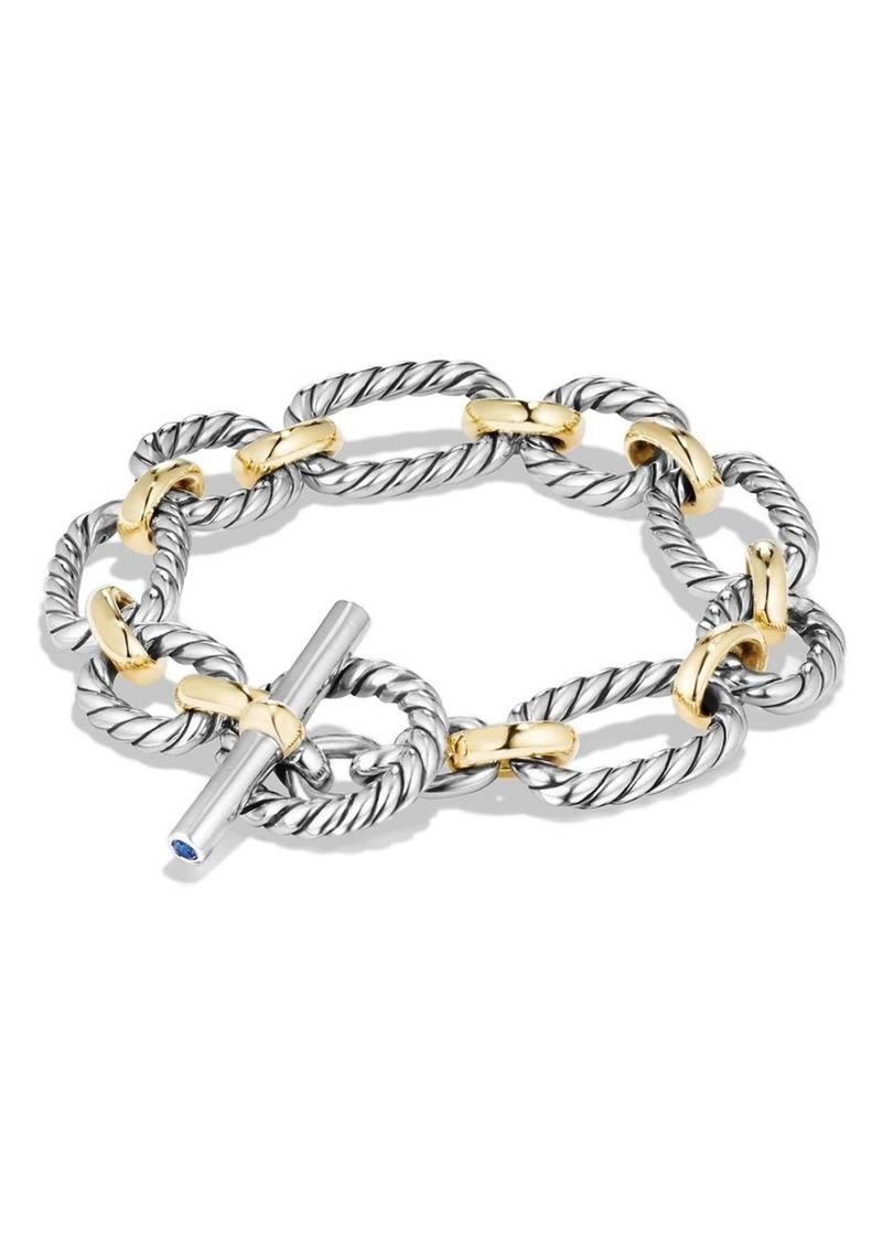 8931eb74a0ea4 David Yurman David Yurman 'The Chain' Oval Link Bracelet with Gold ...