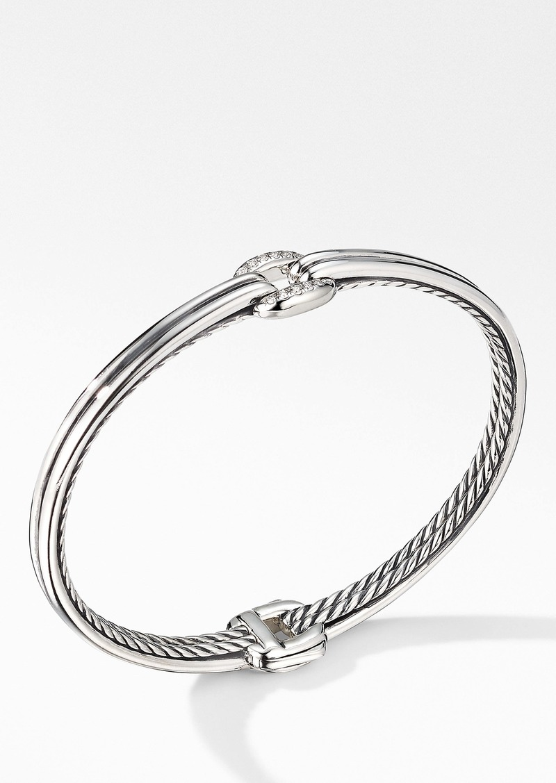 David Yurman Thoroughbred® Center Link Bracelet with Diamonds