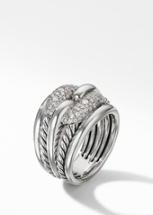 David Yurman Thoroughbred® Cushion Link Diamond Ring