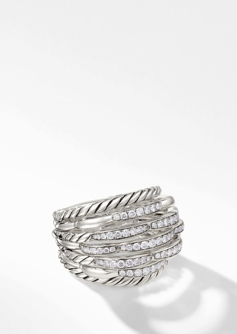 David Yurman Tides 20mm Dome Ring with Diamonds