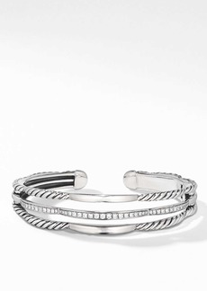 David Yurman Tides 3-Row Cuff Bracelet with Diamonds