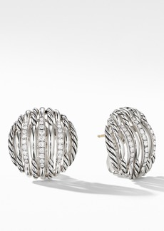 David Yurman Tides Diamond Button Earrings