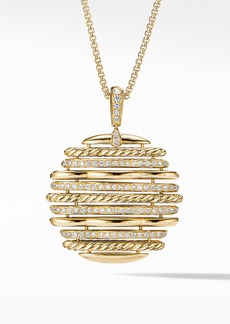 David Yurman Tides Pendant Necklace in 18K Yellow Gold with Diamonds