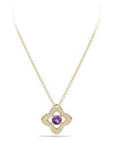 David Yurman Venetian Gemstone & Diamond Pavé Quatrefoil Pendant Necklace