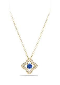 David Yurman 'Venetian Quatrefoil' Necklace with Diamonds in 18K Gold