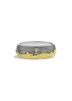 David Yurman 'Waves' Band Ring with Gold