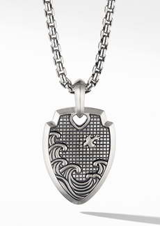 David Yurman Waves Shield Pendant