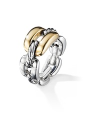 David Yurman Wellesley Link Chain Link Ring with 18K Gold