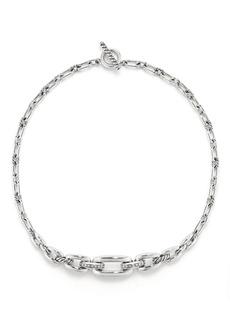 David Yurman Wellesley Link Chain Station Necklace with Diamonds