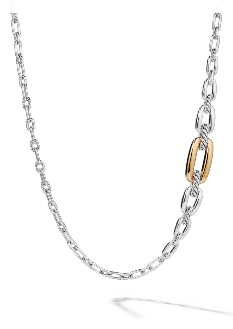 David Yurman Wellesley Link Long Necklace with 18k Gold