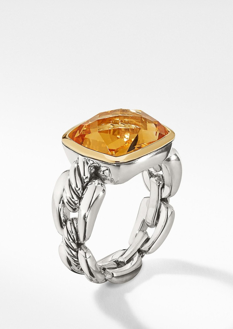 David Yurman Wellesley Link Statement Ring with 18K Gold