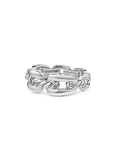 David Yurman Wellesley Link Sterling Silver Stax Chain Link Ring