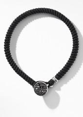David Yurman Woven Nylon Bracelet with Pavé Black Diamonds