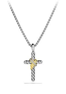 David Yurman Cross Necklace with Pavé Diamonds