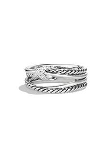 David Yurman 'X Crossover' Ring with Diamonds
