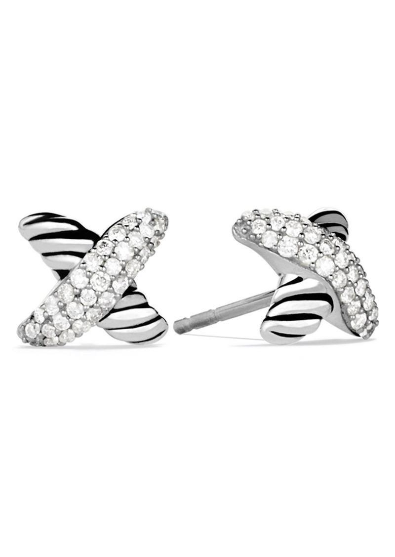 d9572e34557cc David Yurman David Yurman  X  Earrings with Diamonds
