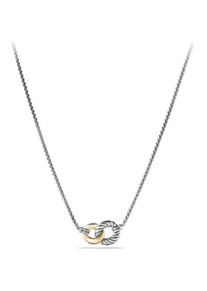 David Yurman'Belmont' Curb Link Necklace with 18K Gold