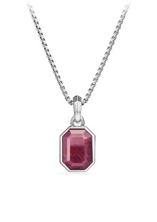 David Yurman Emerald Cut Ruby Amulet