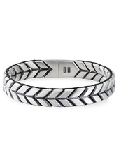 David Yurman Men's 12mm Chevron Woven Silver Bracelet