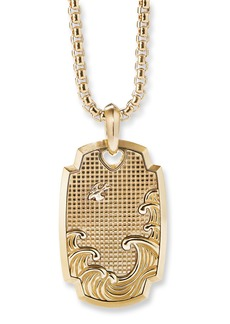 David Yurman Men's 18k Gold Waves Amulet Enhancer