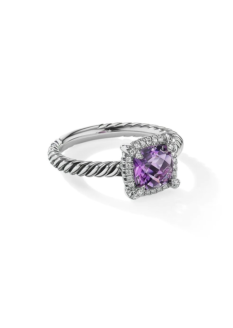 David Yurman Petite Châtelaine Pavé Bezel Ring With Diamonds