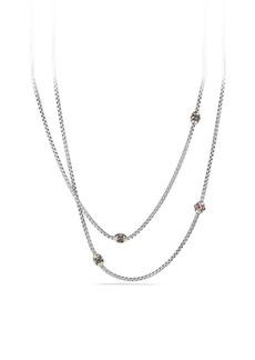 David Yurman Renaissance Necklace with Pink Tourmaline, Rhodalite Garnet and 18K Gold