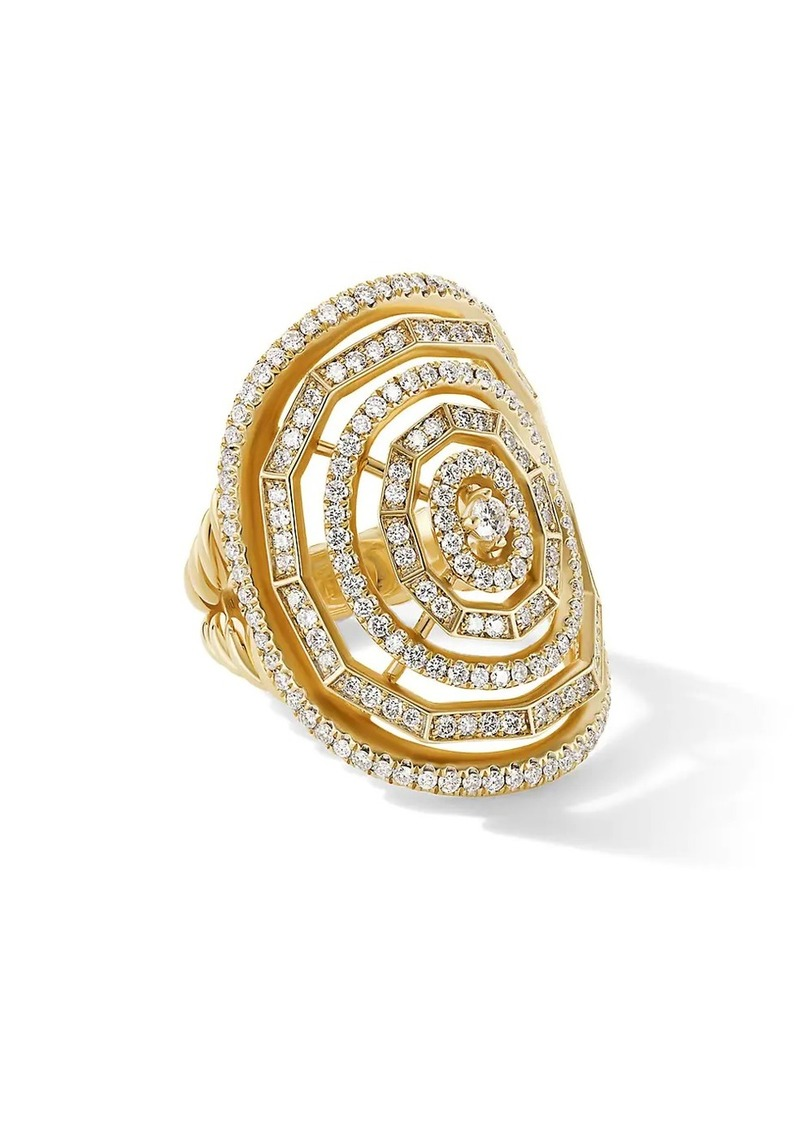David Yurman Stax 18K Yellow Gold & Diamond Statement Ring