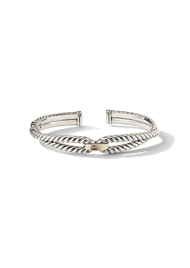 David Yurman sterling silver and 18kt yellow gold 9mm Cable Loop bracelet