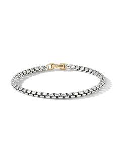 David Yurman sterling silver Bel Aire 14kt yellow gold clip bracelet