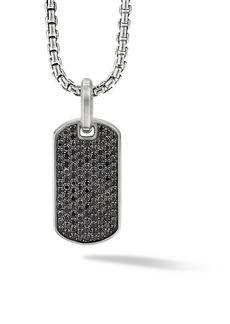David Yurman The Pavé Collection Sterling Silver & Black Diamond Enhancer Tag Pendant