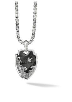 David Yurman Waves Shield Sterling Silver Pendant